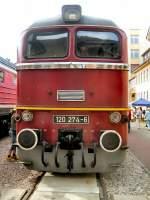 bahnwerk-erfurt/70476/diesellok-br-120-im-bahnwerk-erfurt Diesellok BR 120 im Bahnwerk Erfurt (80 Jahre Bahnwerk Erfurt)