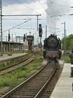 dampf/71334/br-65-rangiert-in-erfurt-hbf BR 65 rangiert in Erfurt Hbf (während des Umbaus), 2010