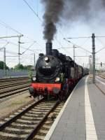 dampf/73163/einfahrt-sonderzug-aus-bad-langensalza-erfurt Einfahrt Sonderzug aus Bad langensalza, Erfurt Mai 2010