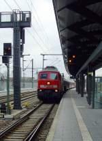 neuer-hbf/116358/br-232-mit-personenzug-am-2112011 BR 232 mit Personenzug am 21.1.2011 in Erfurt Hbf