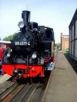 raw-meiningen/162865/schmalspurbahnlok-99-4511-in-meiningen Schmalspurbahnlok  99 4511 in Meiningen