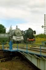 bw-weimar/72585/br-50--br-52-im BR 50 & BR 52 im Bw Weimar, um 2004