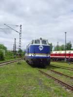 bw-weimar/73691/rangierfahrt-ex-v180118-im-bw-weimar Rangierfahrt ex V180(118) im Bw Weimar Mai 2010