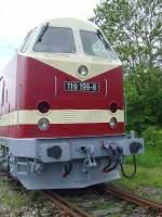 bw-weimar/73825/stirnansicht-119-im-bw-weimar-mai Stirnansicht 119 im Bw Weimar Mai 2010