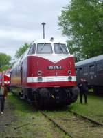 bw-weimar/74196/v-180-118-der-deutschen-reichsbahn V 180 (118) der Deutschen reichsbahn im Bw Weimar, Ausstellung Mai 2010