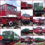 bw-weimar/74304/elektrolokomotiven-der-deutschen-reichsbahn-im-bw Elektrolokomotiven der Deutschen Reichsbahn im Bw Weimar (Montage), Mai 2010
