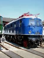 bw-weimar/75486/e-18-047-der-deutschen-reichsbahn E 18 047 der Deutschen Reichsbahn  im Bw Weimar, 2005
