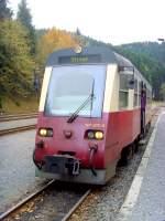 Eisfelder Talmuhle/101188/abfahrbereiter-triebwagen-nacg-stiege-im-abzweigbahnhof Abfahrbereiter Triebwagen nacg Stiege im Abzweigbahnhof Eisfelder Talmühle
