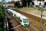 Strecke bei Erfurt/144805/rs-1-der-suedthueringenbahn-verlaesst-erfurt RS 1 der Südthüringenbahn verlässt Erfurt