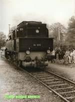 weimar-berkaer-bhf/71604/94-1292-rangiert-im-weimar-berkaer 94 1292 rangiert im Weimar, Berkaer Bahnhof - vor 1989