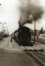bhf-erfurt-nord/79782/dampfzug-im-bhf-erfurt-nord-dr-vor Dampfzug im Bhf Erfurt-Nord, DR vor 1989