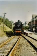 bhf-erfurt-west/69155/br-50-im-bhf-erfurt-west-vor BR 50 im Bhf Erfurt-West, vor 1990