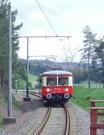 flachstrecke/70165/von-oberweissbach-kommender-triebwagen-2010 Von Oberweißbach kommender Triebwagen, 2010
