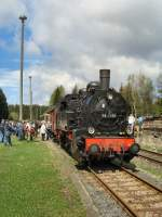 bhf-rennsteig/70806/br-94-mit-sonderzug-im-bhf BR 94 mit Sonderzug im Bhf Rennsteig