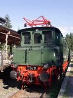 bhf-rennsteig/85819/e-04-11-im-bahnhof-rennsteig E 04 11 im Bahnhof rennsteig (Fahrzeugausstellung)