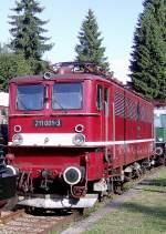bhf-rennsteig/85845/e-11-001-211-im-bahnhof E 11 001 (211) im Bahnhof Rennsteig zur Fahrzeugausstellunf August 2010