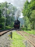 bhf-stutzerbach/85780/rangierfahrt-in-stuetzerbach-august-2010 Rangierfahrt in Stützerbach, August 2010