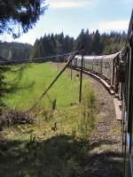 strecke/68172/zug-zwischen-rennsteig-und-stuetzerbach Zug zwischen Rennsteig und Stützerbach