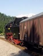 bhf-sitzendorf-unterw/88633/br-65-in-richtung-rottenbach-in BR 65 in Richtung Rottenbach in Sitzendorf, 14.8.2010