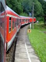 schwarzburg/88010/am-bahnhof-schwarzburg-am-1482010 Am Bahnhof Schwarzburg am 14.8.2010