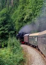 strecke/88211/unterwegs-mit-der-schwarzatalbahn-und-der Unterwegs mit der Schwarzatalbahn und der BR 65